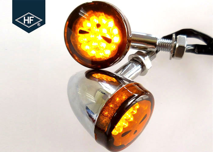 Chrome 20 LED Aftermarket Motorcycle Lights For Harley / Honda / Yamaha