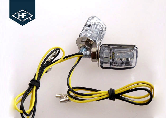 Hyosung 2W LED Motorcycle Blinkers , Chopper Small Motorcycle Turn Signals