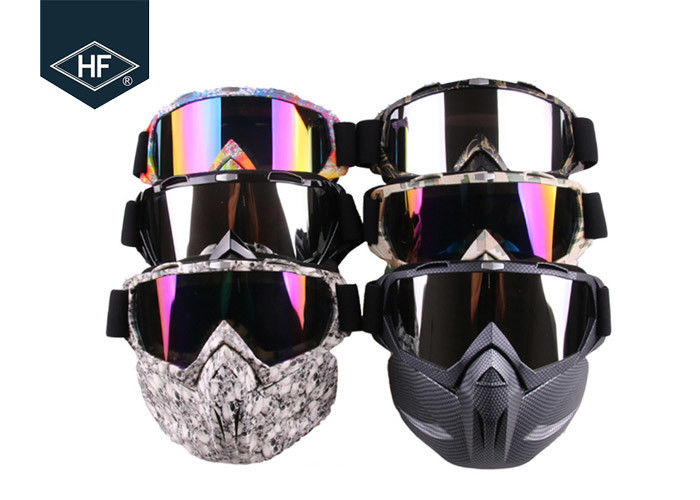 Motorcycle Riding Accessories Anti Fog Ski Goggles  , TPU Frame Motorcycle Riding Glasses