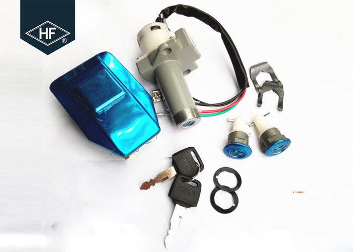 Other Motorcycle Parts 4 wire Silver Aluminum WY125 Motorcycle tank cover Key Switch Lock set kits