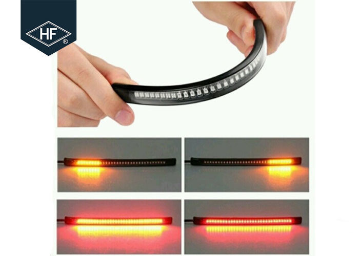 Flexible Soft 12V Aftermarket Motorcycle Lights Strip For Rear Tail Brake Stop